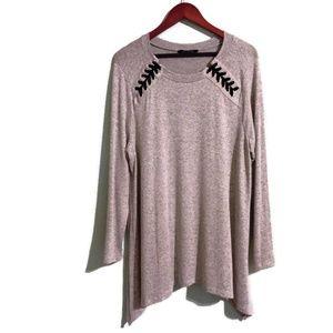 Hannah Women's Plus Gray Sweater Size 2X